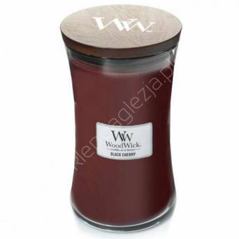 Świeca Wood Wick duża Black Cherry