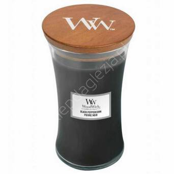 Świeca Wood Wick duża Black Peppercorn