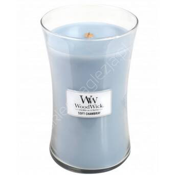 Świeca Wood Wick duża Soft Chambray